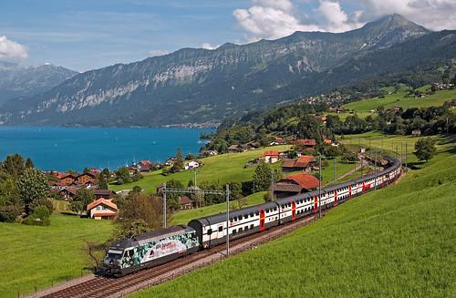 railroad advertising switzerland railway trains bern svizzera bahn mau ferrovia treni werbe re460 nikond90 ic1079