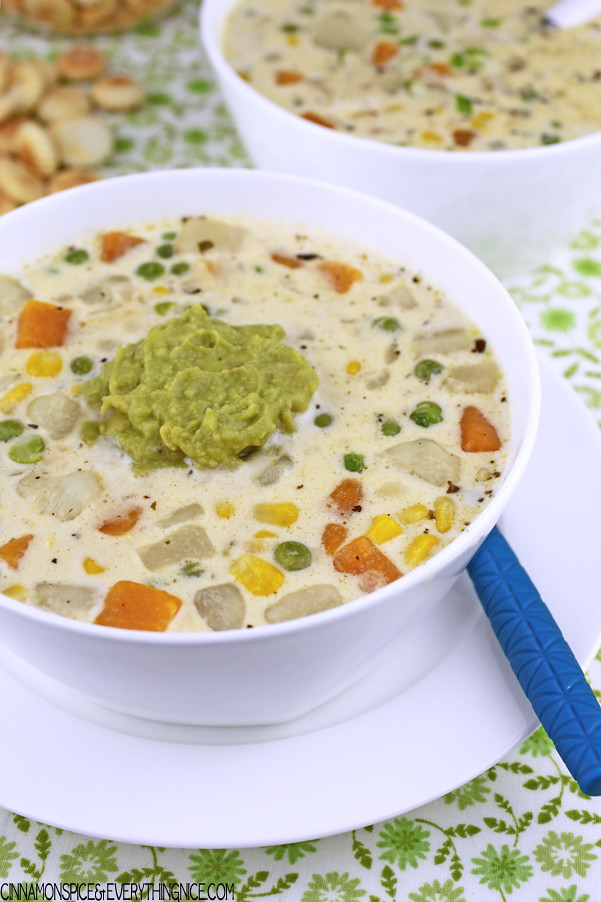Andean Potato & Cheese Soup #vegetarian