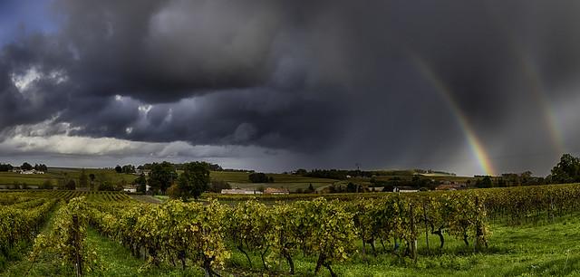 storm, rainbow