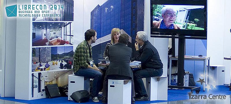 Stand de Izarra Centre en 'LibreCon 2014'
