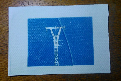 12.  Cyanotypes - Power tower