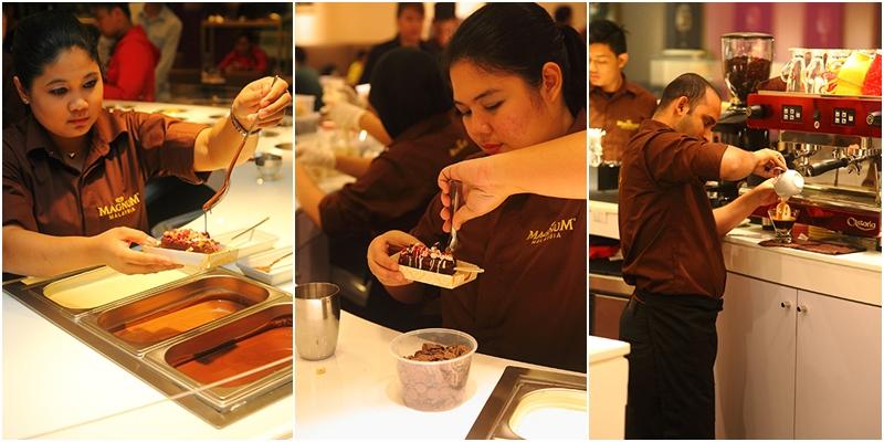 Customizing Magnum Cafe Ice Cream