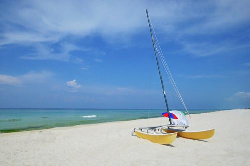 clouds postcard vacation nikon blue sky sailboat sail boat sand beach ocean nikond7000 florida lagunabeach panamacitybeach