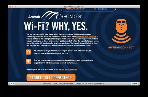 Free wifi on Amtrak
