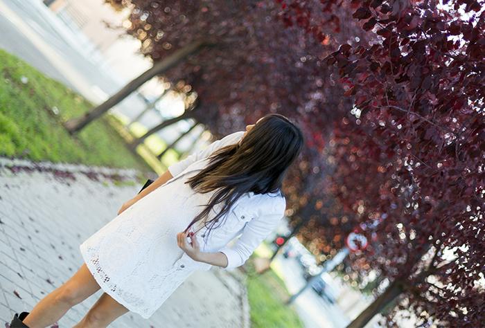 street style warm fall days white dress autumn hake bag fashion blogger outfit blog de moda
