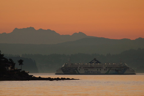 sunset nanaimo gabriolaisland bcferry