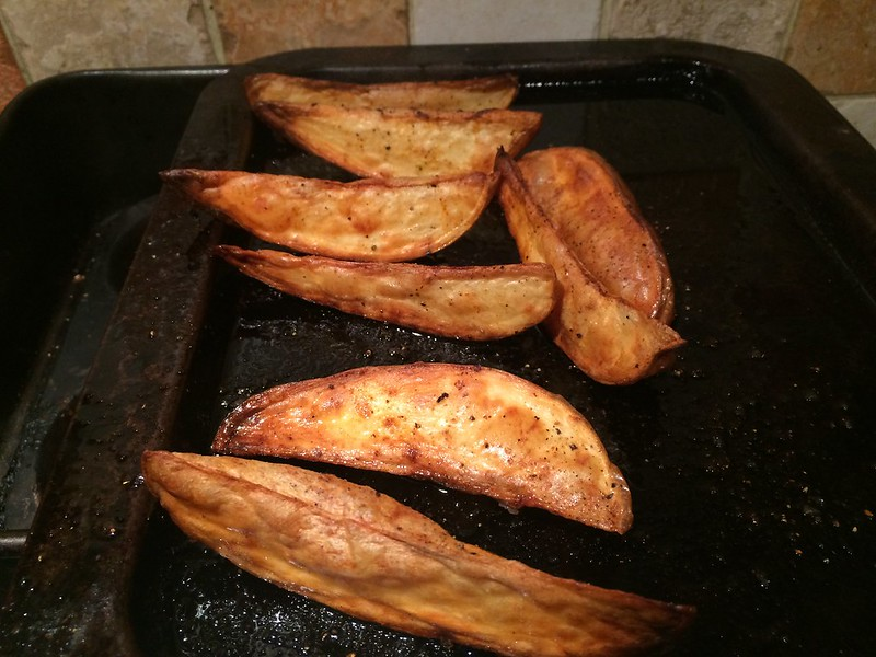 Breaded Fish and Chips : Chips ready