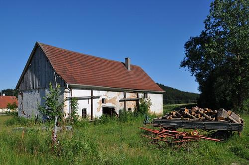 Altes Bauernhaus bei Hohenraunau