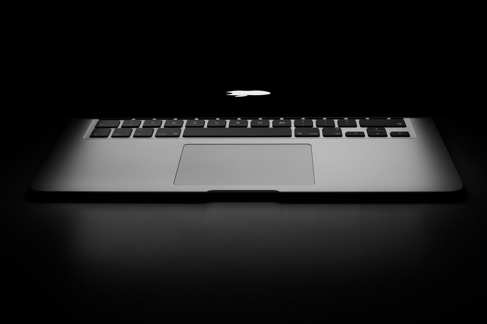 Macbook in Black and White