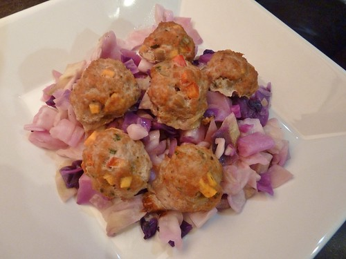 Asian Meatballs with Sauteed Cabbage