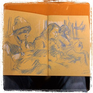 #japon #train #nikko #colerase #blue #pencil #portraits #urbansketch #craft