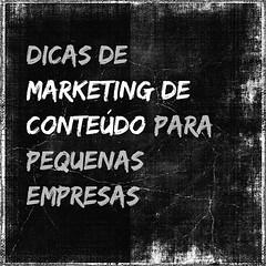 Dicas de marketing de conteúdo para pequenas empresas.  O marketing de conteúdo pode ser uma carta na manga para a estratégia das pequenas empresas.   As pequenas empresas têm, historicamente, uma grande vantagem em adotar estratégias digitais para seus n