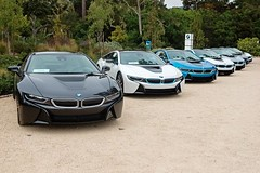 Which BMW i8 world style is your favorite; (first 4, left to right) Mega, Giga, Tera, or Pure Impulse? #FieldsBMW #BMWi #electric