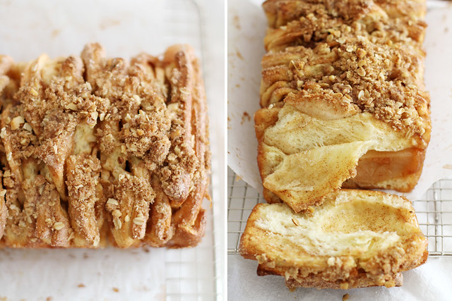 Apple Cinnamon Streusel Pull-Apart Bread | girlversusdough.com @stephmwise