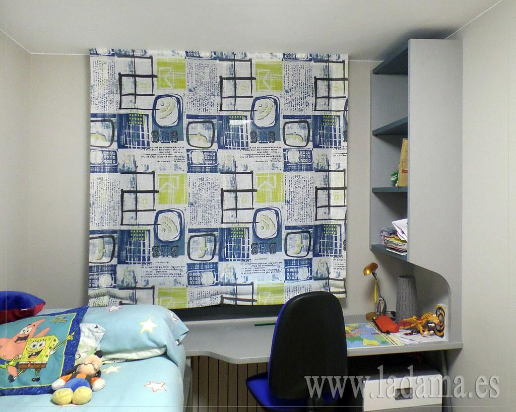 Estores Habitacion Juvenil Estores Plegables Lino Corti With  ~ Cortinas Dormitorio Juvenil Chico