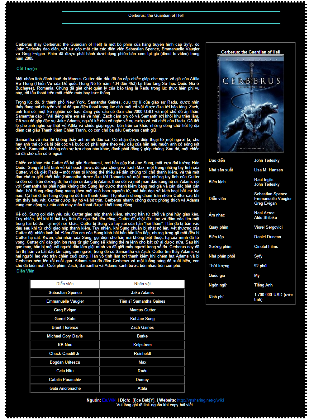 [Movie] Cerberus  2005  - oOo VnSharing oOo 15104552094_341d3208fe_o