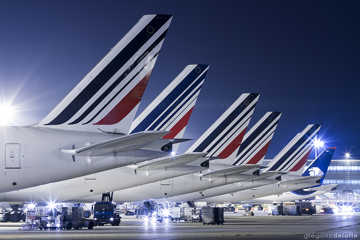 Air France line up - Paris CDG