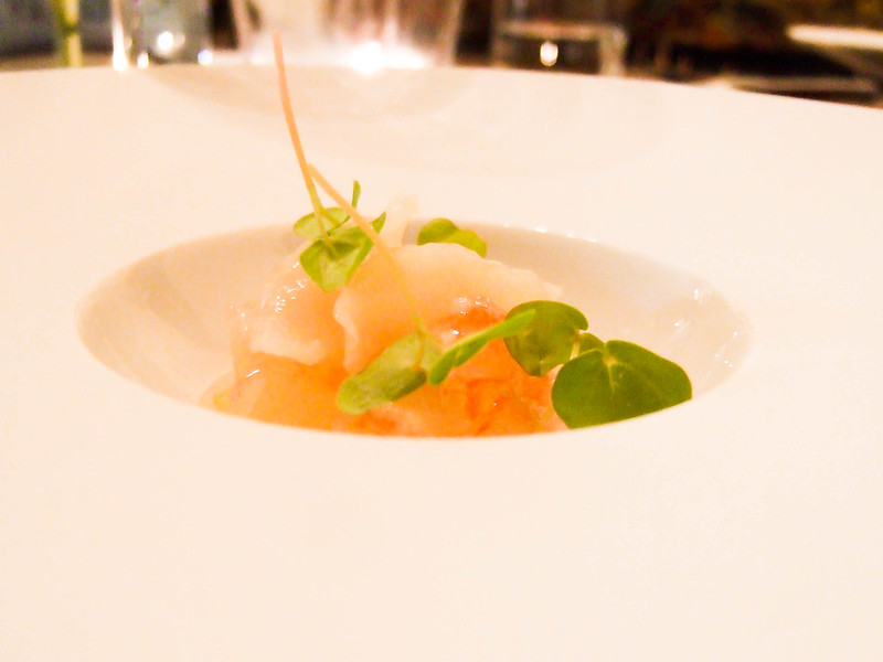 Crudo lobster & clam with lemon gelee