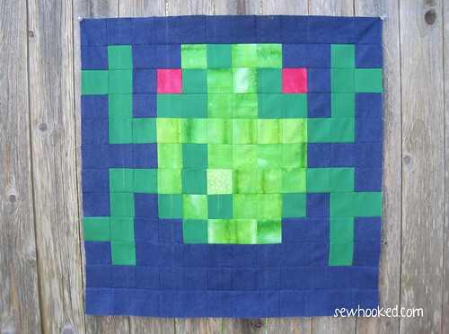 Frogger Pixel Quilt