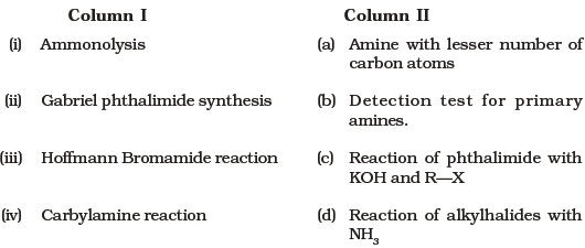 Class 12 Important Questions for Chemistry – Amines – AglaSem Schools