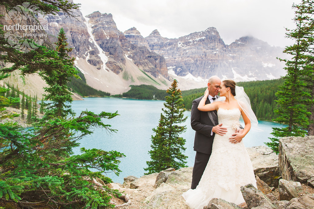 After Wedding Session at Moraine Lake