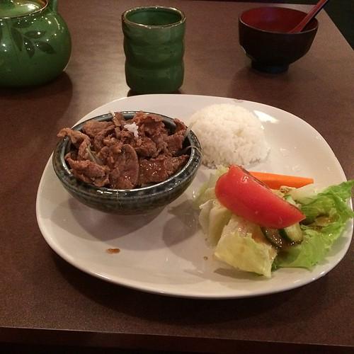 Beef shogayaki at Ichiban #yegfood