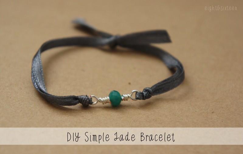 diy simple jade bracelet