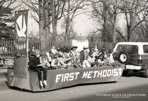 Tri-X Files 84_31.06a: First Methodist Church Float