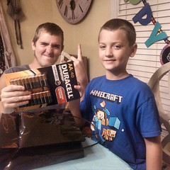 You wouldnt believe how pumped this kid was over a pack of batteries. His unc knows whats up.