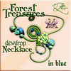 AZE Forest Treasures Dewdrop Necklace in blue