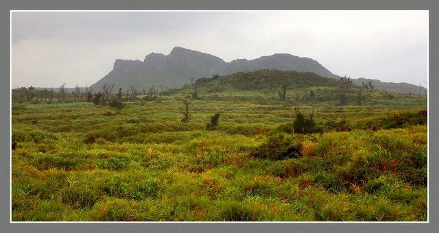 THE KARST PEAKS OF HEDO -- An Uncommon View Over Abandoned Farmlands During a Typhoon