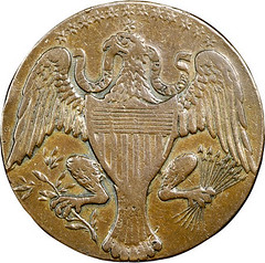 1792 Washington President Cent reverse