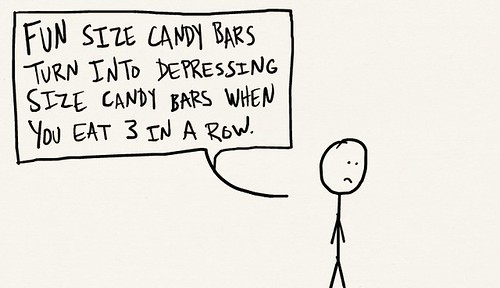 Depressing Size Candy Bars