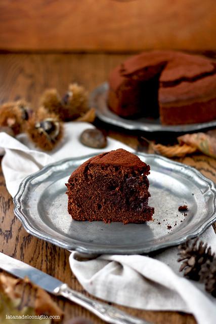 Torta morbida al cioccolato e farina di castagne2