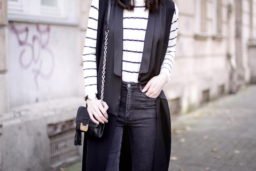 Frontrowshop outfit crop pullover long waistcoat diane von furstenberg autumn ootd blogger fashion style ricarda schernus cats & dogs 5