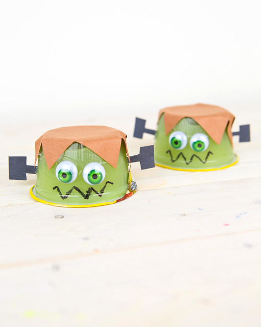 Applesauce Frankenstein Monster Halloween Treats