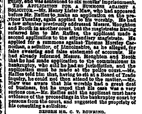 Henry Lister Maw Liverpool Mercury Monday 20 February 1865