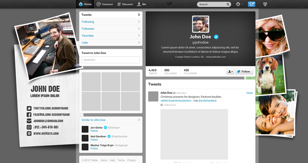 Multipurpose Twitter Cover Design