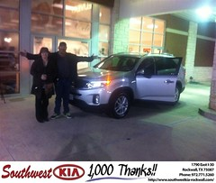 #HappyAnniversary to Kenneth Dryden on your 2014 #Kia #Sorento from Gary Guyette  at Southwest KIA Rockwall!