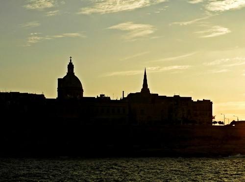 sunset sea tramonto mare malta valletta