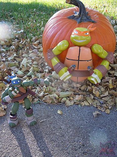 "GEMMY :: Nickelodeon  TEENAGE MUTANT NINJA TURTLES;  ""MICHELANGELO""  PUMPKIN PUSH-IN DECORATING KIT i  (( 2014 ))"