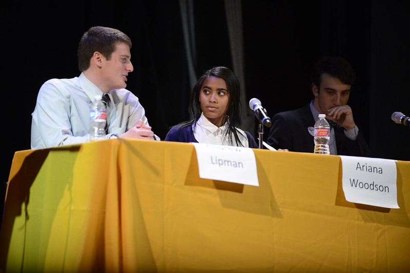 First student political debate in recent years draws a crowd