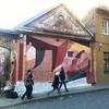 next Wall in progress... at Jonas Mekas Square, Vilnius, Lithuania  #umiresidency #mural #wallpainting #vilnius #uzupis #johannesmundinger #wip #painting #lithuania #urbanart #jonomekoskersvejis