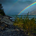 Double rainbow rises from the Columbia by GeorgeOfTheGorge