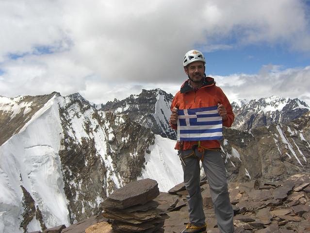 Ο Γιώργος Βουτυρόπουλος στο Ladakh της Ινδίας το 2012