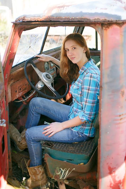 Redneck teen girl in the woods authoritative point