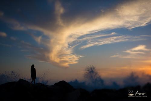california sunset silhouette sunrise landscape losangeles unitedstates venicebeach amit amitshindore