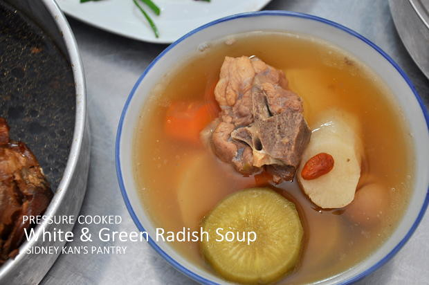 Philips Pressure Cooked White and Green Radish Soup