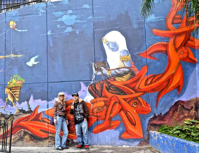 graffiti murals of comuna 13 medellin, colombia