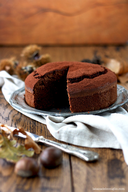 Torta morbida al cioccolato e farina di castagne3
